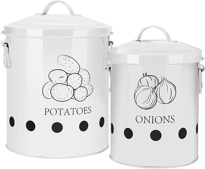 411 opinioni per G.a HOMEFAVOR Contenitori per la Conservazione di Patate, Aglio, Cipolla, Frutta