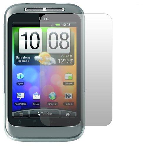 Slabo 2 x Protector de Pantalla para HTC Wildfire S lámina Protectora de Pantalla Ultra Transparente Invisible