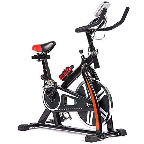 Cycle Bikes for Exercise, Indoor Exercise & Fitness Cycling Bike, Heavy-Duty Indoor Exercise Stationary Bike w/Adjustable Tension/Multi-grips Handlebar/LED Monitor, for Home Cardio Gym Workout,Black