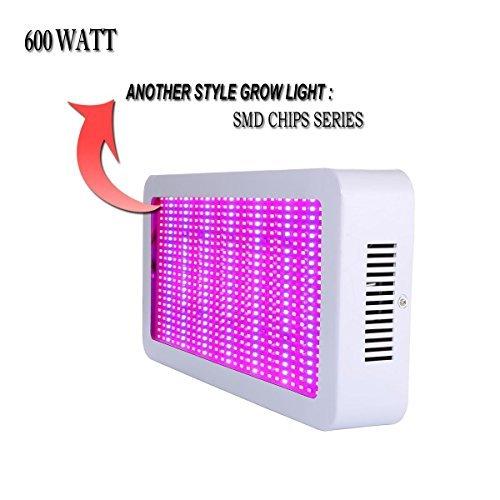 Derlights LED Grow Light, 600W Full Spectrum Dual...
