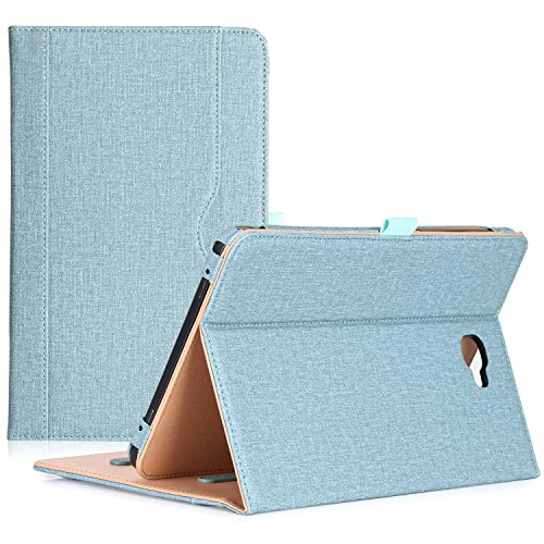 ProCase Galaxy Tab A 10.1 Case 2016 Old Model, Stand Folio Case Cover for Galaxy Tab A 10.1 Tablet SM-T580 T585 T587 (NO S Pen Version) with Multiple Viewing Angles, Card Pocket -Teal