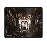 """シラキュースドームの大聖堂で印刷された天然ゴムのマウスパッドステッチエッジ11.8"""" x9.85"""""""