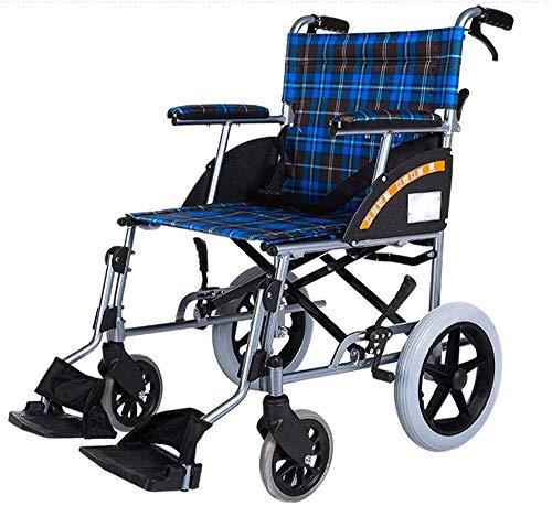 silla de ruedas Médico, silla de ruedas de aluminio portátil pequeño vehículo de ruedas plegable inflable libre scooter de ancianos ligero del conductor silla de ruedas plegable