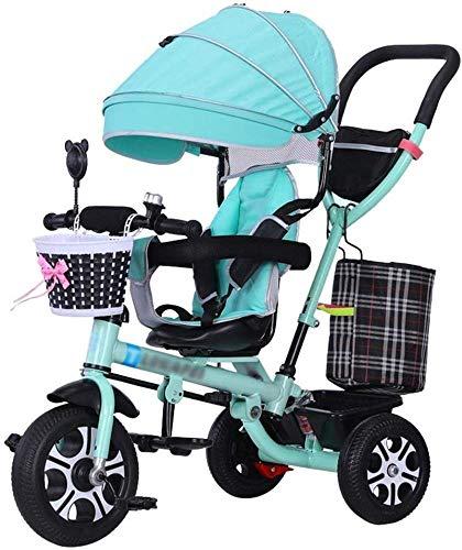 Pushchairs Pushchair 4-in-1 Baby Trolley Kinderwagen Snelvoudige Trike met Veiligheidsgordel en Schokdemper Kinderfiets 6 Maanden - 5 Jaar Oude Babyproducten