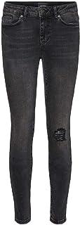 Vero Moda VMHANNA MR SK DSTR Jeans BA2130 Pantalones, Dark Grey Denim, M para Mujer
