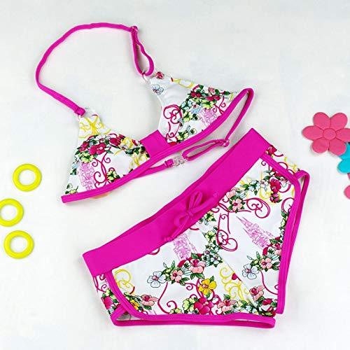 GUOZI Bikini Meisjes bikini set Leuke Bloem Patroon Split Bikini Zwemkleding mooie Bikini Twee Stukken Baby Badpakken