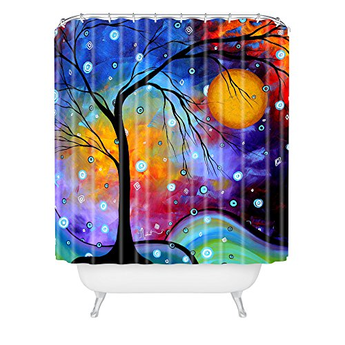 Colorful Tree Shower Curtain Winter Sparkle