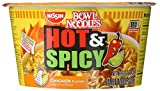 Nissin Noodle Bowl, Hot and Spicy Chicken, 3.3 Ounce (Pack of 6)