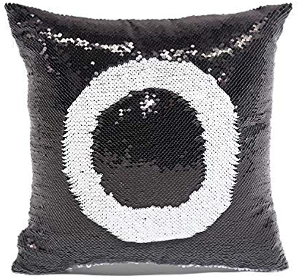 Sublimation Blank Pillow Covers 16inx16in Reversible Sequin Magic Swipe Pillow Cases Cushion Cover 10pcs Black