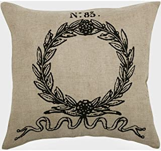 Rizzy Home Natural Laurel Wreath Pillow Cover