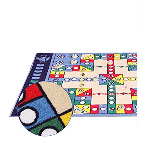 SWNN Carpet Kreative Mode Wohnzimmer Schlafzimmer Teppich Flugschachspiel Geruchlos Tuch Matten Trägt Puzzle-Spiel for Kinder Im Kindergarten Matten (100 * 130cm)