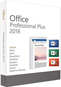 Office 2016 KeyCard - Professional Plus Lifetime License | 32/64-bit | PC