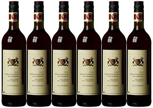 Württemberger Wein Haberschlachter Heuchelberg Trollinger mit Lemberger QW halbtrocken (6 x 0.75 l)