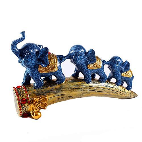 BFORS Tres pequeños Adornos de Elefantes, la Resina de la decoración del...