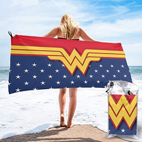 Toalla de playa Toalla de baño The Avenger Superheros Wonder Woman Toalla de playa Toalla de baño Secado rápido Viajes Playa Camping Yoga Gimnasio Toallas de piscina Toalla suave 27.5 x 55 pulgadas