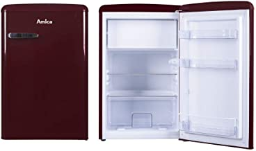 Amica Retro Kühlschrank Weinrot KS 15611 R 108 Liter mit Gefrierfach Standgerät Wine Red<