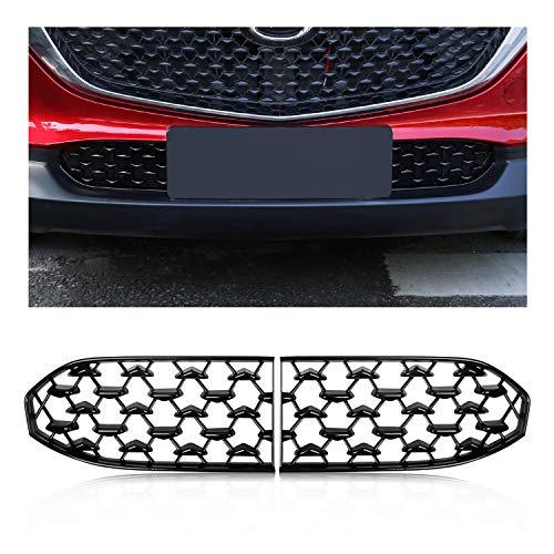 [2 Stück] CDEFG für CX30 CX-30 Front Kühlergrille Frills Frontstoßstangenmaske Auto Grill Modifiziertes Zubehör