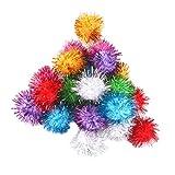 Sharplace 21er Set Pompons Bälle für DIY Deko Basteln Katze Spielzeug