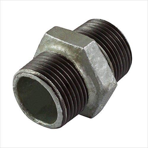Stabilo-Sanitaer Doppelnippel 3/4 Zoll DN20 Rohrnippel Temperguss Fitting Gewindefitting Tempergussfitting Rohrfitting