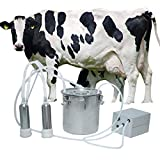 BEETLA Electric Pulsation Milking Machine | 5L Portable Vacuum-Pulse Pump Cow Milking Machine with 2 Teat Milker | Suction Milker Vacuum Pump with Automatic Stop Device