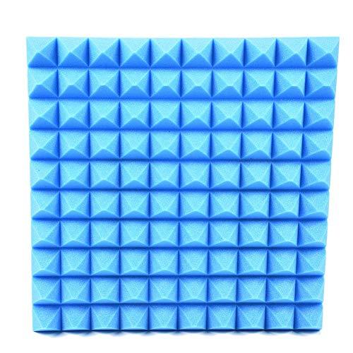 Forwei 50x50 CM Paneles acústicos piramidales Decoración de la Pared Aislamiento acústico Reducción de Ruido