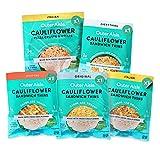 Outer Aisle Gourmet Cauliflower Sampler Pack | Keto, Low Carb, Grain-Free, Gluten-Free | 5 Pack