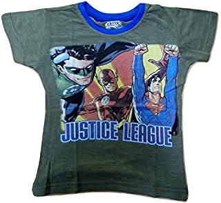 CAMEY Boys Justice League Printed Half Sleeves T-Shirt