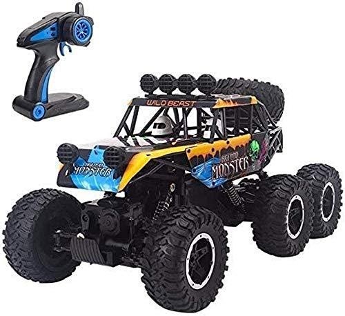 yanzz Buggy de Carreras de Alta Velocidad 1/10 pies Grandes 4WD Off Road RC Hobby Eléctrico Fast Rock Crawler Monster Truck, vehículo controlado por Radio de 2,4 GHz Juguete COC