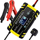 BUDDYGO Car Battery Charger, 12V/24V 8Amp Intelligent Automatic Battery Charger/Maintainer Delivers 3 Stage