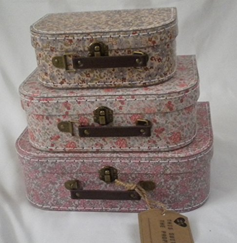 Sass & Belle Vintage (Set of 3) Floral Suitcases