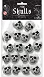Amscan | Halloween Trick or Treat Party Decoration | Mini Skulls Value Pack | 18 Skulls in a pack | Measures 1 1/2' x 2'