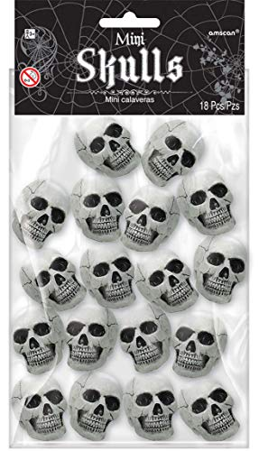 amscan 396096 Lot de 18 Mini crânes pour Halloween