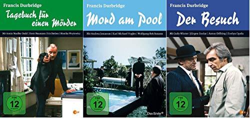 Tagebuch für einen Mörder + Mord am Pool + Der Besuch / Francis Durbridge 3er Film Set [DVD Set]