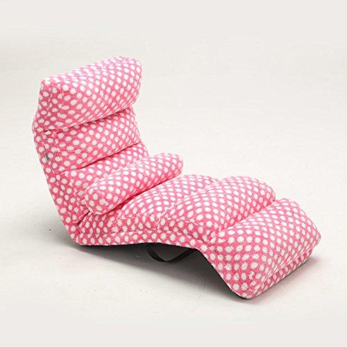 Private home textiles Individuel Mini canapé,Tatami Chaise de Sol,Siesta Canapé Pliant,Chaise Lounge Divan-Lits Amovible Imperméable Hydrofuge Chaise Longue Balcon-Rose