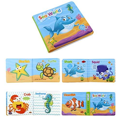 TLM Toys Wasserdichtes Buch, Baby-Badebuch Tränensicheres Kinder-Duschspielzeug Frühpädagogisches Spielzeug für die Badezeit