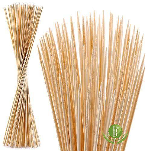 NadaKin 120 PCS Bamboo Marshmallow Roasting Sticks with 30 Inch 5mm Thick Extra Long Heavy Duty...