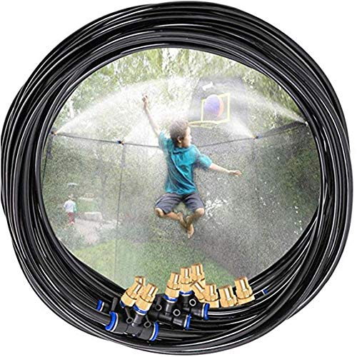 No Branded Trampoline Sprinkler, Outdoor Water Play Toys For Kids Backyard Fun Cooling Summer Sprinkler Yard Games Water Toys For Boys And Girls 19 Ft
