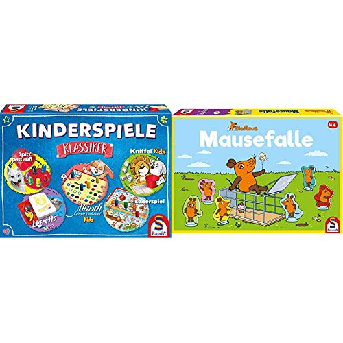 Schmidt Spiele 49189 Kinderspiele Klassiker, Kinderspielesammlung, bunt & 40505 Maus, Mausefalle, Kinderspiel, bunt