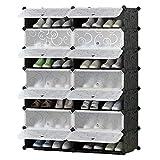 Organizador de almacenamiento de soporte de zapato Personal ideal para zapatos para zapatos Botas zapatillas Zapatillas portátil Almacenamiento Organzier Tower Mueble modular para ahorrar espacio Solu