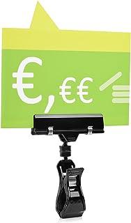 10pieza Soporte para cartel (para la exhibición de precios al manillar de bicicleta/moto/cortacésped (tubos hasta 30mm de diámetro)