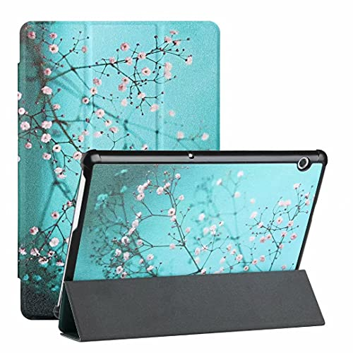 Funda para Samsung Galaxy Tab A 8.0 (2019) T290/T295/T297 – Funda de piel sintética de primera calidad, ultra ligera, con función atril para despertar/sueño, color ciruela Bossom