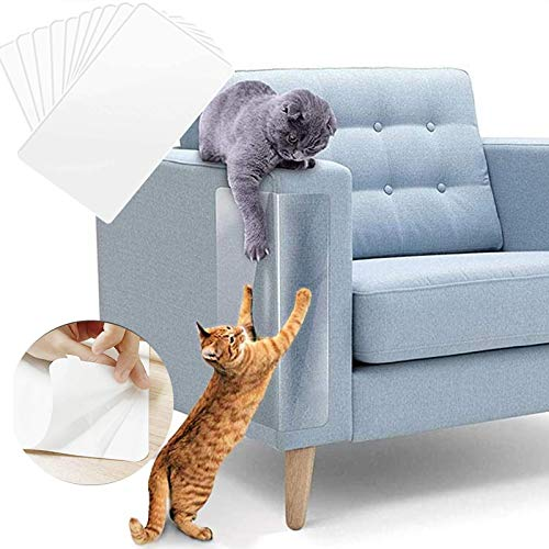 Protector Para Sofa Gatos,Protector Sofa Gatos,Protector de Muebles Gatos,Transparente Autoadhesivas contra Arañazos de Gato Protector, Protector de sofá para Detener 10Pcs