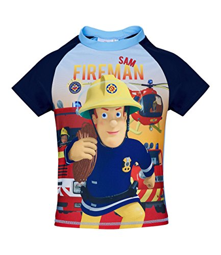 Feuerwehrmann Sam Jungen Swim Shirt - Blau - 110