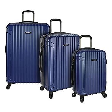 U.S. Traveler Akron 3-Piece Hardside Spinner Luggage Set, Navy