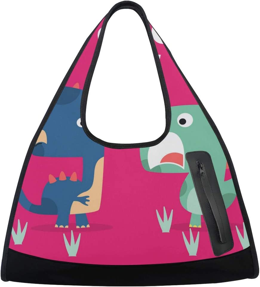 Words OMG Cartoon security Dinosaurs Women Totes Bag Gym Sports Free Shipping New Multi-Fun