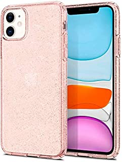 iPhone 11, Spigen Case, TPU Liquid, Crystal Glitter Designed Cover, Rose Quartz