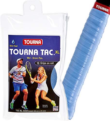 Tourna Tac 10 Pack Tacky Feel Tennis Grip, Blue
