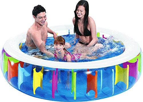 Jilong Rainbow Pool Ø 190 x 50 cm Kinderpool Planschbecken Schwimmbecken Kinder Schwimmbad für Garten und Terasse