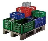Transporte contenedores apilables PP gris l.400X b.300X h.270mm paredes/suelo