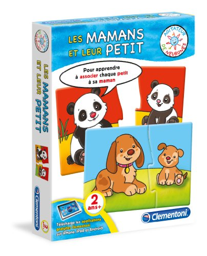 Clementoni - 62502.4 - Jeu Educatif - Les Mamans Et Leur Petit - 2 Ans Et +